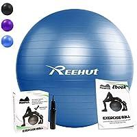 Reehut Pelota de Ejercicio Anti-Burst para Yoga, Equilibrio, Fitness, Entrenamiento, incluidos Bomba y Manual de Usuario - Azul 75cm - Cosmética y perfumes - Comparador de precios