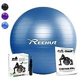 Reehut Anti-Burst Gymnastikball, 55 65 75 cm, Maximalbelastbarkeit bis 500kg, Berstsicher, Fitness-Ball, Sitzball, Yogaball, Pilates-Ball, Balance-Ball