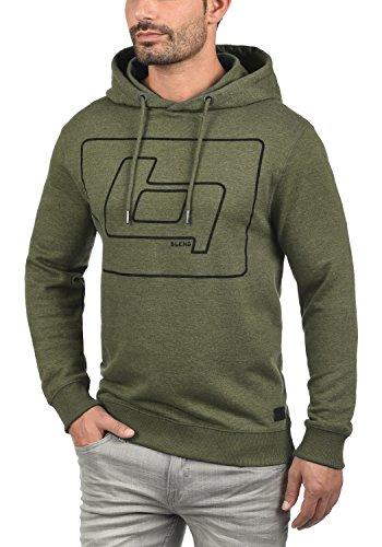 BLEND Vinto Herren Kapuzenpullover Hoodie Sweatshirt aus hochwertiger Baumwollmischung Meliert Ivy Green (77026)