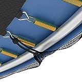 Ampel 24 Universal Gummispanner | 36 Spanngummis lang | Gummischnüre schwarz ummantelt | Planenspanner mit Kugel -