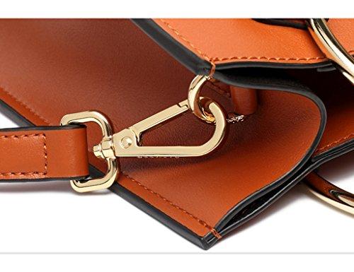 Zcjb Donne Borse A Tracolla Borse Moda Donna Borse Borsa A Tracolla Grande Capacità Borsa A Tracolla Portatile (colore: Marrone) Marrone