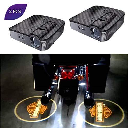 2 STÜCKE Universal Wireless Smart Sensor Auto Projektion LED Projektor Tür Geisterlicht Schatten Licht Willkommen Licht Laser Emblem Logo Courtesy Lichter Lampen (Licht Davidson Harley Schatten)