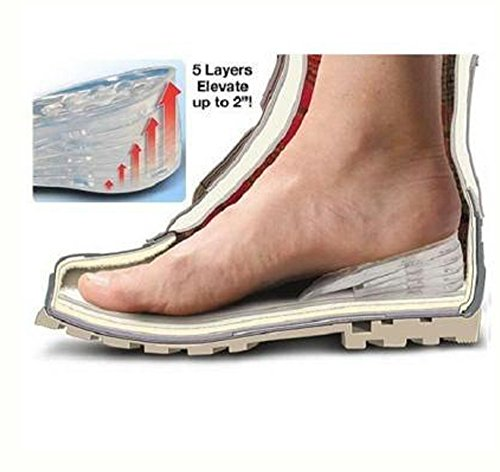 "Everything Imported â""¢ Elevate 5cm Comfortable Men Women 1 Pair(5 Layers) Adjustable Taller Silicone Gel Height Increase Increasing Insole Inserts Pads for Shoes Sole Increase Your Stature 2 Inches I"