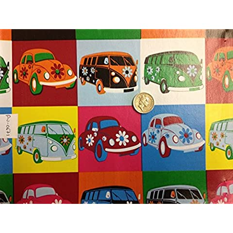 VW Vans Bug facile pulire Serie stampe Patio Tovaglia cerata