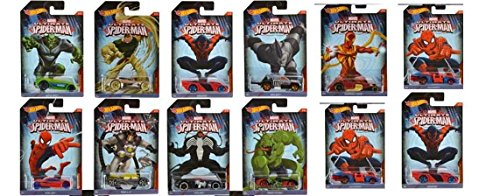 Hot Wheels Ultimate Spiderman Series Cars Collection x 12 pc by Hot Wheels