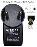 NIRMALS Replacement 12V Power Adapter FOR Wifi Routers CC tv ,led lights (12V 1A NETGEAR)