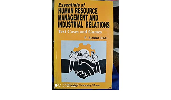 Human Resource Management Book By Subba Rao