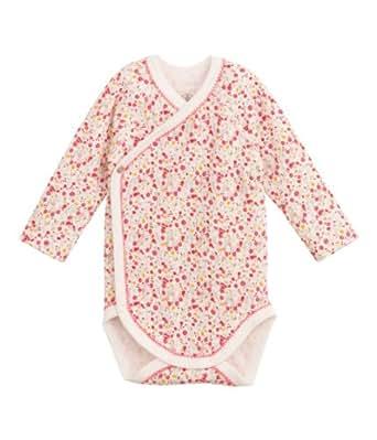 Petit bateau - camélia - body - bébé fille - multicolore (lait/multico) - FR : 1 mois - 54 cm (Taille Fabricant : 56 cm)