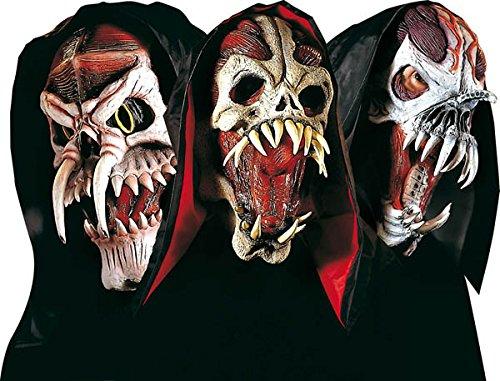 WIDMANN Générique Espacio máscara de monstruo con las máscaras de la capilla del partido Año Nuevo antifaces y disfraces de mascarada del vestido de lujo del traje de accesorios