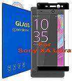 Sony Xperia XA Ultra ( 6 pouces ) 3D Incurvé Verre Trempé Transparent 3D Film Protection en Verre trempé écran Protecteur Vitre - Ultra Résistant Dureté 9H 0.26mm Glass Screen Protector pour Sony Xperia XA Ultra ( 6 pouces ) / XA Ultra Dual ( 6 pouces ) (Noir)