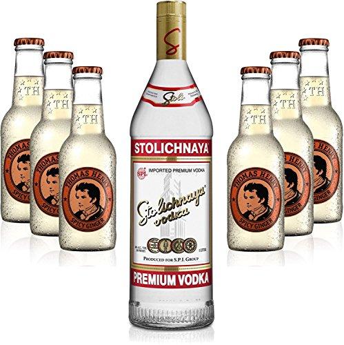 moscow-mule-set-stolichnaya-vodka-1l-40-vol-6x-thomas-henry-spicy-ginger-200ml