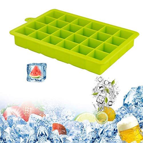 Silikon Eiswürfelschale 24-Quadratmeter Silikon Eisform Box Machen Sie Eiswürfel Für Whisky-Trinken, Ein Muss Für Die Kühlung Von Bar-Getränken - BPA-frei, Für Lebensmittel Schmilzt Eis - Quadratmeter Kühlung
