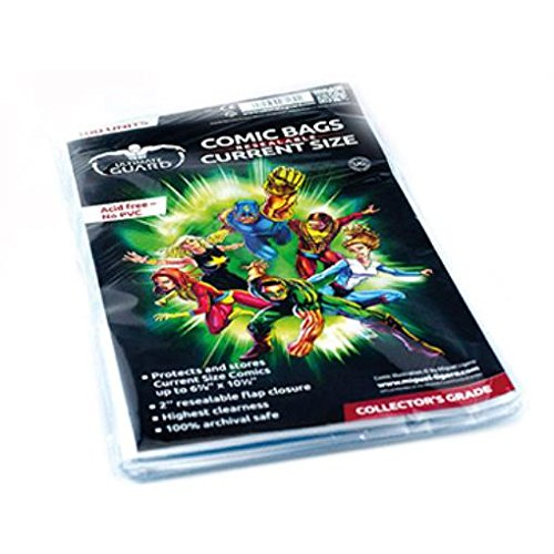 Ultimate Guard Comic Bags Resealable Current Size (100) Ultimate Guard [importato da UK]