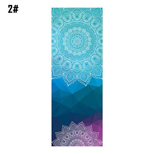 adminitto88 Yoga-Matte Handtuch Tuch Tuch Fitness Decke Soft Perfect Mikrofaser Skidless Praxis Pilates Decke Doppelseitig Rutschfeste Schweiß Absorbierend