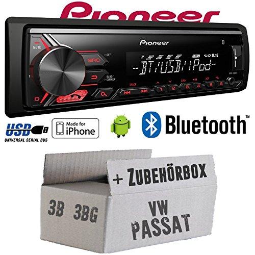 vw-passat-3b-3bg-pioneer-mvh-390bt-bluetooth-mp3-usb-spotify-fur-iphone-autoradio-einbauset