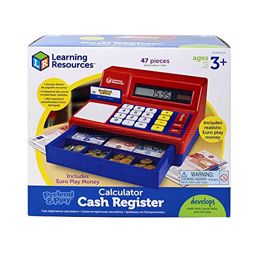 Learning Resources Pretend & Play Kaufladenkasse, - Register Cash Taste