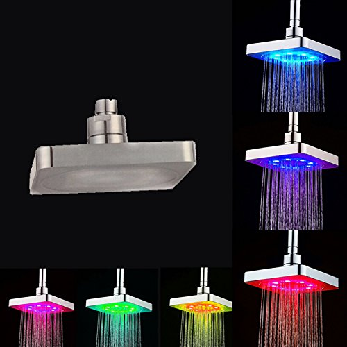 Trend Mark 7colors Colorful Led Shower Head Changing Shower Head No Battery Led Waterfall Single Shower Head Round Bathroom Accessories Dependable Performance Shower Heads Shower Equipment