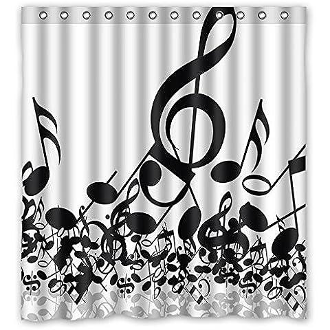 """Sogno fuori note musicali Custom Decor morbido tessuto impermeabile Bagno Doccia Tenda 66""""(W) X 72(H)"""