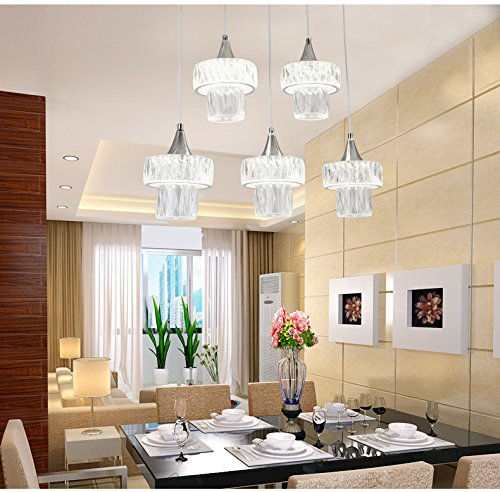 Esszimmer Licht Höhe (Ehime Die Lichter im Raum, die von der Decke hängen und stilvoll Kreative minimalistischen Speisesaal mit Kronleuchtern, warmen und romantischen Esszimmer licht Gehäuse - 54 cm 11 cm Höhe 80 cm)