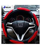 #1: NIKAVI Steering Wheel Cover - Odorless, Warmer Hands In Winter, Cooler Hands In Summer (GREY)