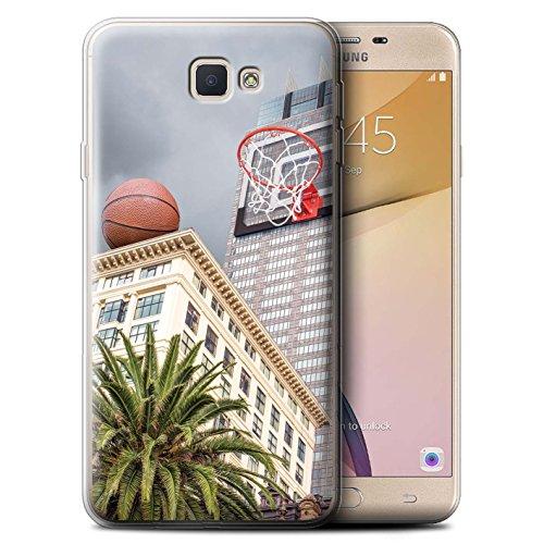 Stuff4® Gel TPU Hülle/Case für Samsung Galaxy J5 Prime/G570 / Büro Basketball Muster/Unten Unter Kollektion