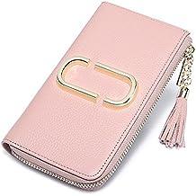 La mujer Xinmaoyuan billeteras Dama Volver tipo aguja larga Billetera de cuero de vaca con flecos Monedero Monedero dulce