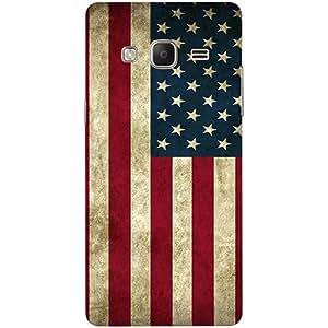 Casotec Vingate USA Flag Design 3D Printed Hard Back Case Cover for Samsung Z3