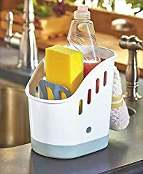 Kitchen Sink Caddy Plastic Household Holder Organizer Includes 5 Jumbo Scouring Pads Sponges