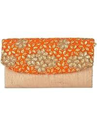 Arisha Kreation Co Women's Clutches (AK-1155, Orange)