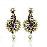 Atasi International Blue Kundan Earrings...