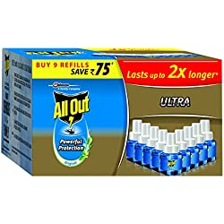 All Out Ultra Saver Refill Set (Clear, 9-Pieces, Plastic)
