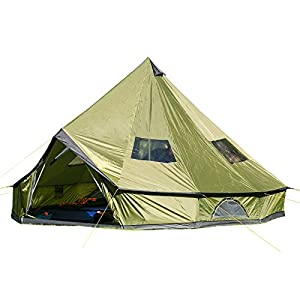 skandika unisex molde teepee tent, green, 10 persons/large