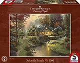 Schmidt Spiele Puzzle 58464 - Thomas Kinkade, Friedliche Abendstimmung, 1.000 Teile Puzzle