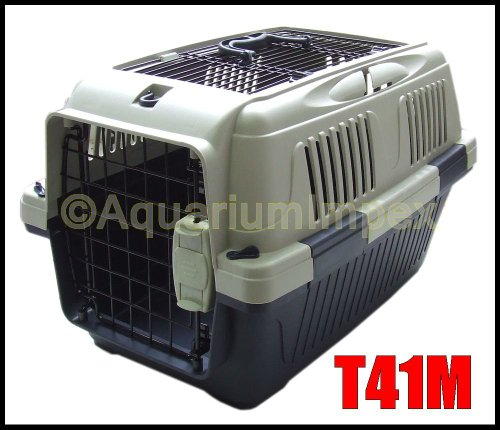 DeLuxe PLUS Transportbox Autobox Namenschild 2x Türen T41M blau Hundebox Hunde Katzenbox -