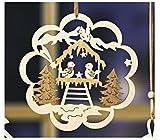 dpr. Fensterbild Vogel im Wald Holz Fensterdeko Wanddeko Weihnachten Winter