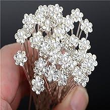 Horquillas para el pelo de Miaoo, 40 piezas de cristal con perlas y diamantes de