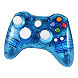 Wetoph XBOX 360 Wireless Controller, GD02 Nachleuchten PC-Controller Transparente Gamepad mit 8 LED-Leuchten Unterst�tzung Xbox 360 und PC (Windows XP/7/8/10) blau medium image