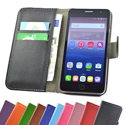 Medion Life S5504 Smartphone / Slide Kleber Hülle Case Cover Schutz Handy Tasche Cover Etui Handyhülle Schutzhülle YT in Schwarz - 5,5