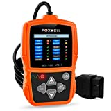 Foxwell NT201 OBD2 Scanner, New Version Diagnostic Code Reader with Colorful LED Indicator
