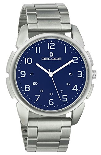 Decode Analogue Blue Dial Mens And Boys Watch-Gr084 Blue Chain