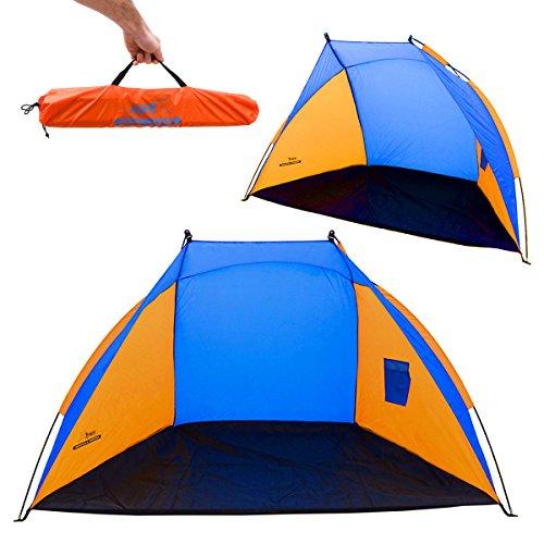 AMANKA Familien Strandmuschel UV-Schutz 120x210x120cm Kinder Strandzelt Baby Windschutz Sonnenschutz Wasserdicht - Strand Sonne Zelt
