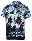 Funky Hawaiihemd, Kurzarm, Beach, Grau, M
