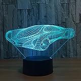 Ahat 3D LED USB Veilleuse Lumière De Nuit Acrylique Lampe De Chevet Avec 7 Couleurs Décoration Pour Chambre De Bébé Enfant Cadeau De Noël Fête Anniversaire Voiture de course