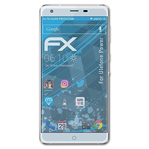 atFolix Schutzfolie kompatibel mit Ulefone Power Folie, ultraklare FX Bildschirmschutzfolie (3X)