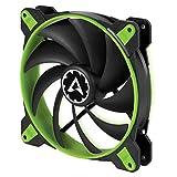 Arctic BioniX F140-140 mm Gaming Gehäuselüfter mit PWM PST   Case Fan mit PST-Anschluss (PWM Sharing Technology)   Reguliert RPM synchron - Grün