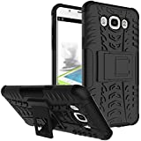 Dream2cool FOR Samsung Galaxy ON 8 / J7 2016 Tough Hybrid Flip Kick Stand Spider Hard Dual Shock Proof Rugged Armor Bumper Back Case Cover For Samsung Galaxy ON 8 / J7 2016 - BLACK
