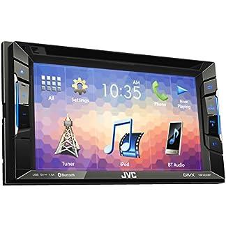 JVC-KW-V230BT-DVD-CD-USB-Receiver-mit-Integrierter-Bluetooth-Technologie-und-157-cm-62-Zoll-Touch-Panel-mit-VGA-Auflsung-schwarz