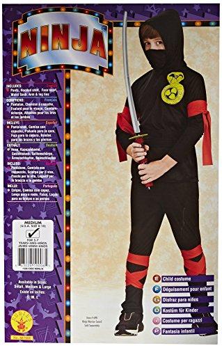 Imagen de rubie's  disfraz de ninja para niños, color negro 12109 m