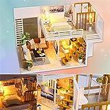 Funihut - Casette di Bambole in Legno, per bricolage, assemblate a Mano, casa Semplice ed Elegante, per Un Regalo di Compleanno e Una Decorazione di Interni
