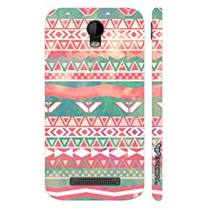 Micromax Bolt Q335 Aztec Art 3 designer mobile hard shell case by Enthopia